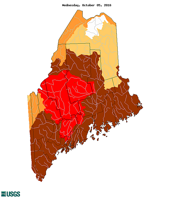 Maine Drought Worsens Spreads North And East